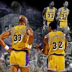 "LA Lakers | Kareem Abdul-Jabbar and Erving ""Magic"" Johnson"