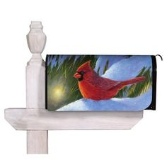 Winter Glow Cardinal Magnetic Mailbox Cover by House-Impressions. $23.00. Has cut-outs for both flag and mailbox handle. Magnetic. Perforated edge for easy custom fit. All-weather and fade resistant. Clings to your mailbox in a snap and fits all standard sized mailboxes. A simple metal mailbox makes no statement about its owners, but adding this colorful mailbox cover introduces hospitality, style, and charming curb appeal. These magnetic mailbox covers are the new artis...