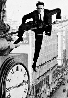 Harold Lloyd - 'Safety Last!', 1923,  directed by Fred C. Newmeyer. ☀