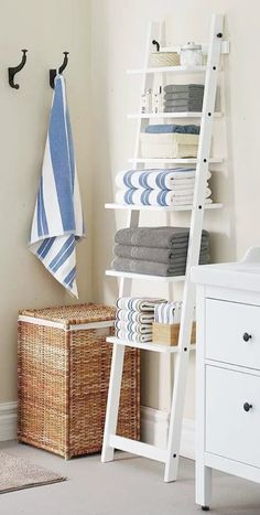 Bathroom Towel Storage - If you want to have many of towel storage for your bathroom go building a custom shelf to suitable your necessities.