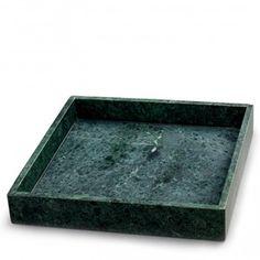 Grønt marmor brett Large