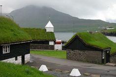 Wyspy Owcze-zielony dach