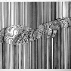 Contour line drawing, art drawings, scribble art, komposition, aboriginal a Contour Line Art, Cross Contour Line Drawing, Drawing Lips, Contour Drawings, Art Optical, Optical Illusions, Arte Linear, Dorm Art, Scribble Art