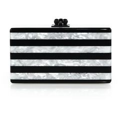 0b712a60369362 Edie Parker Jean Glittered & Striped Acrylic Clutch (2,210 BAM) ❤ liked on  Polyvore