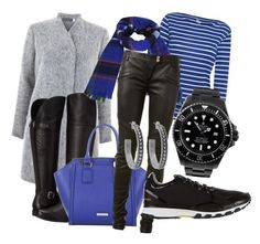 """""""Black and blue casual"""" by inger-lise on Polyvore featuring Mint Velvet, Naturalizer, Miss Selfridge, BCBGMAXAZRIA, Rolex, Balmain, adidas and House of Harlow 1960"""