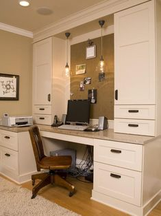 Beautifully clean built in office space.