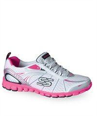 Skechers Women's Barbed Wire Athletic Nursing Shoe in Bubble Gum/Grey/Black