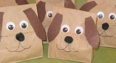 puppys made out of brown bags | Can you believe it's just a brown paper sack?