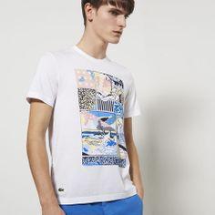 Tee-shirt Lacoste Live ultraslim fit col rond imprimé