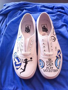 Keep Calm and Play Volleyball ON VANS- Made to Order on Etsy, $94.99