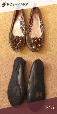 Grey Cherish Slip On Shoes Great Condition. Flower treatment. Smoke Free home. Cherish By Elegant Footwear  Shoes Flats & Loafers
