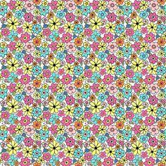 Colorful Ditsy Flowers fabric by angelaanderson on Spoonflower - custom fabric