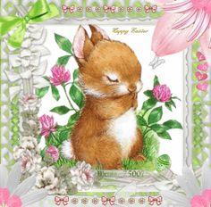 Bunny Praying At Easter Day