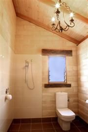 Strawbale and earth homes - gorgeous open plan bathroom
