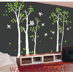 Birch Wall Decal wall Sticker tree decals nature by walldecals001