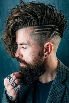 A men side swept undercut is a trendy hairstyle guys often choose over men short haircuts nowadays. No matter whether you are men curly or straight haired, men short haired or with long hair, you will find a dose of inspo in our guide. #menshaircuts #menshairstyles #haircutsformen #hairstylesformen #sidesweptundercut #undercut #disconnectedundercut Mens Long Hair Undercut, Undercut Hairstyles, Hairstyles With Bangs, Male Hairstyles, Bouffant Hairstyles, Updos Hairstyle, Greaser Hairstyle, Undercut Tattoos, Wedding Hairstyles