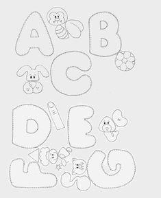molde de alfabeto com bichos