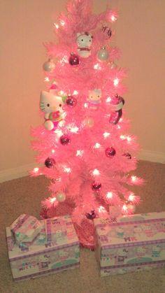 0bfa5b878ba55 Another Kitty tree     Small Pink Christmas Tree