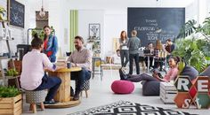 kenamp: Fun office room Meeting Hip Office With Cool Atmosphere Design Milk Cool Office Designs That Make Working Fun Businessorg Flex Office, Cool Office, Native Advertising, Coworking Space, Influencer Marketing, Relaxing Places, Stock Foto, Co Working, Office Interiors