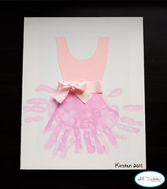 handprint ballerina tutu ~ so adorable!  Will be doing this at Madi's b-day party with the kids to take home