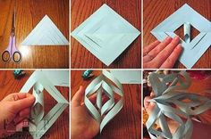 Cool DIY paper snowflake | Home Designs Project