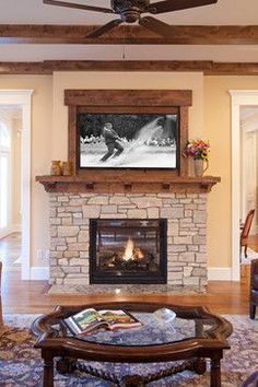 Outdoor Patio idea: Frame out TV over fireplace