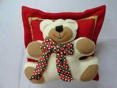 . Teddy Bear, Christmas Ornaments, Christmas Decor, Molde, Dress, Tela, Holiday Ornaments, Decorations, Doll Patterns