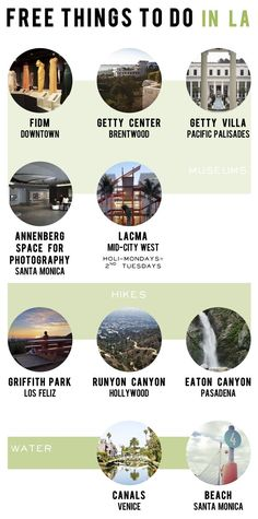 Cheap LA Guide - Free things to do in LA... Definitely great ideas but don't forget some places are free yet make you pay for parking!