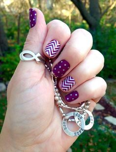 Icy Boysenberry Polka and boysenberry chevron Jamberry nail wraps. www.heliberry.jamberry.com