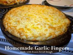 Saltwater Happy's HOMEMADE FROZEN BREAD DOUGH GARLIC FINGERS
