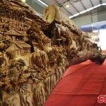 Sculptor Zheng Chunhui Spent 4 Years Carving the World's Longest Wooden Sculpture - The detail!