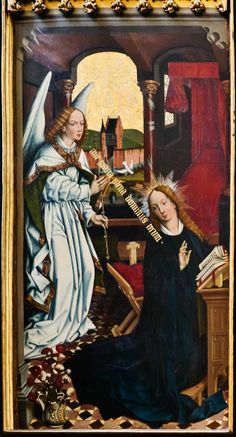 Friedrich Herlin:  The Annunciation  (Rothenburg ob der Tauber, Kirch St. Jakob, Altar, Verkündigunsszene)