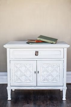 Nightstand painted in Mudpaint - a new line of vintage furniture paint