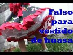 Vestido huasa chinita de Chile. Recorte del patrón - YouTube