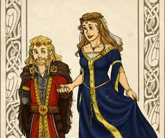 "smuttypeaches:tigerliliesandcherryblossoms asked : how about either fili/sigrid dancing everyone lives AU or kili/bofur playing lively violin & pipe at a party also everyone lives AU It was almost as soon as supper was finished did Sigrid see the Prince of Erebor approaching the dais, chin high and walk assured, a play of a smile on his face. He swept into a bow, low and fluid, almost in a flourish. ""May I ask for the first dance, my lady Sigrid?"" Sigrid found her cheeks heating up when he…"