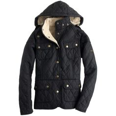 J.Crew Barbour® Clearaway quilted jacket ($300) ❤ liked on Polyvore