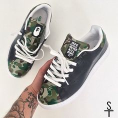 Bape x Adidas Customs Tag us in your pictures for a feature! Turn on post notifications! www.sneaker.team http://ift.tt/1YZKNfE