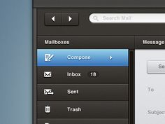 Dribbble - Email Ui by James Cipriano