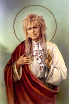 Saint Jareth David Bowie Prayer Candle. by GreaserCreatures. Im not even sure how to react to this, but i cant not repin haha