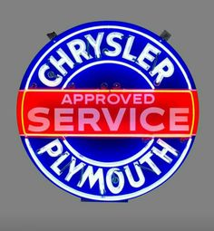 Original Chrysler / Plymouth Service Neon Sign