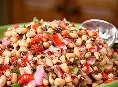 Marinated Blackeye peas...This sounds delightful!