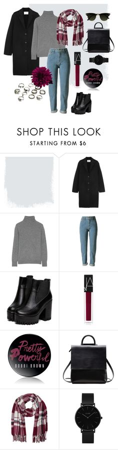 """""""for autumn"""" by msekaterina ❤ liked on Polyvore featuring Acne Studios, Equipment, NARS Cosmetics, Bobbi Brown Cosmetics, M&Co, Pippa, CLUSE, black, Dark and jeans"""