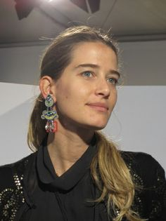 Alice beautifully wearing Dori's Shimmer earrings