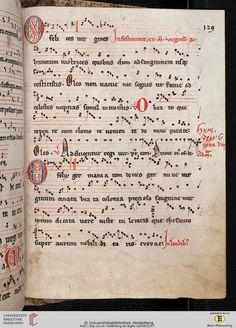 Antiphonarium Cisterciense Salem, um 1200 Cod. Sal. X,6b Folio 129r