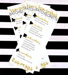 Printed Black Gold Las Vegas Bachelorette / by PreppingParties