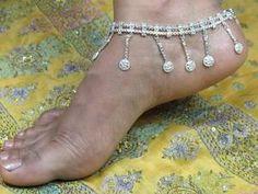Gypsy Jewelry | ... Kuchi Boho Gypsy Silver Tone Anklet Pair Jewelry Jewellery | eBay