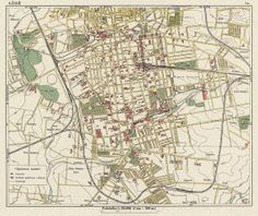 Old map of Lodz, 1924