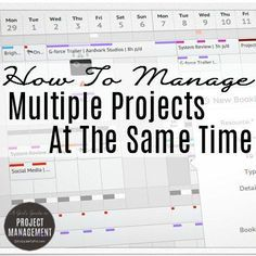 How To Manage Multiple Projects At The Same Time - Business Management - Ideas of Business Management - Copy what I do to manage your tasks resources and time across several projects at once! This article shares loads of tips for staying on Time Management Tools, Change Management, Business Management, Business Planning, Program Management, Business Ideas, Office Management, Kaizen, Project Management Templates
