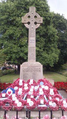 A war memorial at Washington Village
