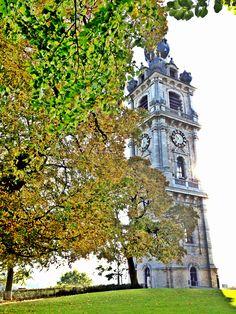 Belgian belfry of Mons, Belgium, UNESCO world heritage site.